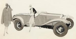 Jean Pages (1903-1976). Lorraine Dietrich B3-6, 1927. Encre et lavis sur papier, 280 cm x 470. Courtesy galerie Vincent Lécuyer.