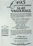 14-40-vauxhall-pub-216x300 Vauxhall 14/40 LM de 1926 Cyclecar / Grand-Sport / Bitza Divers Voitures étrangères avant guerre