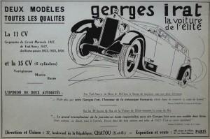 GI2-300x199 Georges Irat, voiture de l'élite Divers Georges Irat Voitures françaises avant-guerre