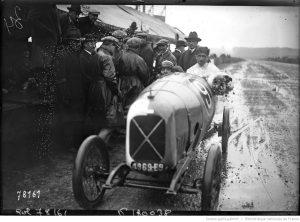 Le Mans, 17-9-22, Grand prix des cyclecars, Robert Benoist sur Salmson [le vainqueur des 1100 cm3 à l'arrivée de la course]