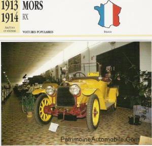 Mors-RX-fiche-2-300x289 Mors 1913 Cyclecar / Grand-Sport / Bitza Divers Voitures françaises avant-guerre