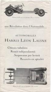 dépliant automobile HARRIS LEON LAISNE chassis 6 et 8 CV 1926 3