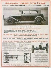 pub-HLL-1-225x300 Harris Léon Laisne de 1931 Divers Voitures françaises avant-guerre