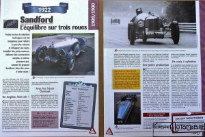 Sandford-fiche-300x200 Sandford Type FT5 de 1934 Cyclecar / Grand-Sport / Bitza Divers