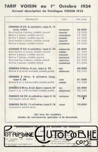 """voisin-1934-C25-C24-C14-3L-13CV-17CV-28CV-33CV-V12-193x300 Voisin C23 """"Char"""" de 1931 Voisin"""