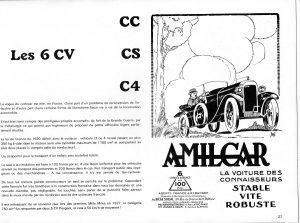 Amilcar 6CV dans L'automobiliste de mars-avril 1967 (3)