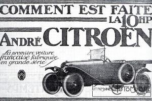 Pub-Citroen-type-a-1-300x200 Comment devenir constructeur automobile (d'avant-guerre)? Autre Divers Voitures françaises avant-guerre