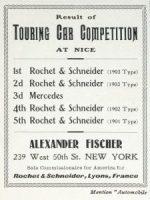 Rochet-Schneider résultats courses