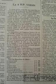 """Voisin-8hp-1-200x300 Voisin C4, 8 hp dans """"Le Génie Civil"""" du 20/10/1923 Voisin"""