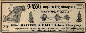 châssis malicet et blin 1907