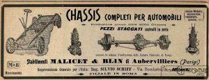 châssis-malicet-et-blin-1907-300x115 Comment devenir constructeur automobile (d'avant-guerre)? Autre Divers Voitures françaises avant-guerre