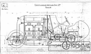 "Fiat-Drawing-300x178 FIAT S76 ""Bête de Turin"" (1911) Cyclecar / Grand-Sport / Bitza Divers"