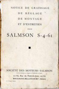Salmson S4-61 notice d'entretien (2)