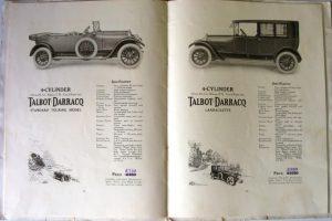 Talbot-Darracq-1921-catalogue-5-300x200 Talbot-Darracq V15 de 1920 Divers Voitures étrangères avant guerre