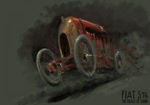 """fiat-record-dessin-300x210 FIAT S76 """"Bête de Turin"""" (1911) Cyclecar / Grand-Sport / Bitza Divers"""