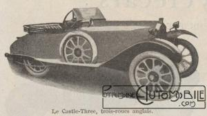 Automobilia-15-02-1920-cyclecars-2-castle-three-300x169 Les cyclecars (Automobilia du 15/02/1920) 2/2 Divers