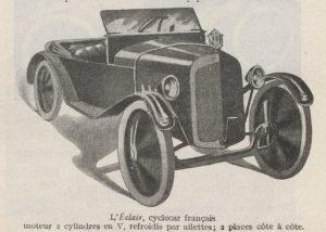 Automobilia-31-01-1920-cyclecars-éclair-4-300x214 Les cyclecars (Automobilia du 31/01/1920) 1/2 Cyclecar / Grand-Sport / Bitza Divers