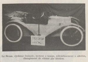 Automobilia-31-01-1920-cyclecars-sicam-300x214 Les cyclecars (Automobilia du 31/01/1920) 1/2 Cyclecar / Grand-Sport / Bitza Divers