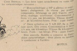 Automobilia-1919-300x200 Bédélia Cyclecar / Grand-Sport / Bitza Divers