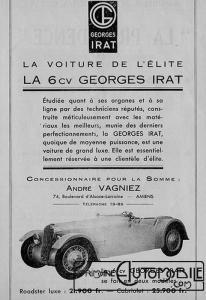 GI-pub-206x300 Georges Irat 5 et 6 cv Cyclecar / Grand-Sport / Bitza Divers Georges Irat