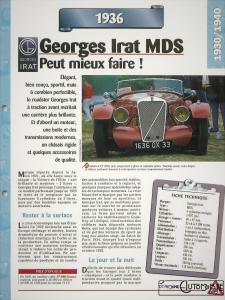 Georges-Irat-MDS-fiche-1-225x300 Georges Irat 5 et 6 cv Cyclecar / Grand-Sport / Bitza Divers Georges Irat