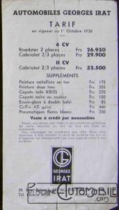 g-irat-tarif-171x300 Historique Georges Irat Divers Georges Irat