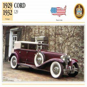 cord-l29-fiche-1-300x298 Cord L29 à Epoqu'Auto Divers Voitures étrangères avant guerre