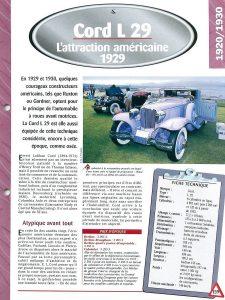 cord-l29-fiche-3-225x300 Cord L29 à Epoqu'Auto Divers Voitures étrangères avant guerre