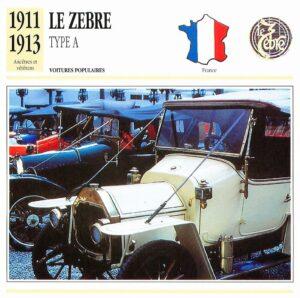 Le-Zèbre-fiche-3-300x298 Le Zèbre type A 1911 Divers Voitures françaises avant-guerre