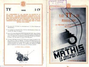 Mathis-TY-5-cv-1932-pub-1-300x225 Mathis TY 5 cv de 1932 Divers Voitures françaises avant-guerre