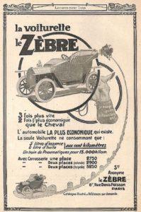 le-zebre-1912-199x300 Le Zèbre type A 1911 Divers Voitures françaises avant-guerre