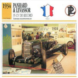 Panhard-Levassor-35-cv-1934-fiche-1-300x300 Panhard Levassor 35 CV des Records (1926) Cyclecar / Grand-Sport / Bitza Divers Voitures françaises avant-guerre