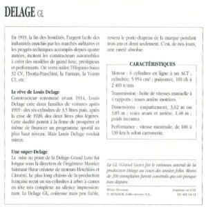 Delage-GL-fiche-2-298x300 Delage Type GL 1924, skiff Labourdette Divers Voitures françaises avant-guerre