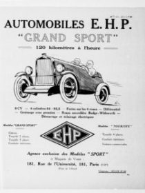 EHP-8cv-225x300 EHP Type B3 de 1922 Cyclecar / Grand-Sport / Bitza Divers Voitures françaises avant-guerre