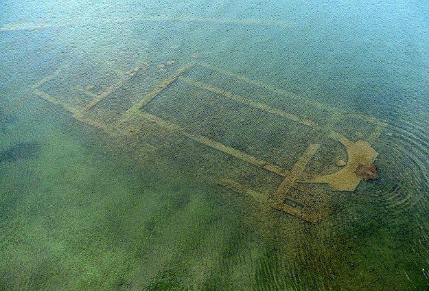 La basílica descubierta en el lago İznik se convertirá en un museo submarino