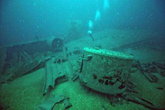 Restos sumergidos Restos sumergidos del SS Gallia. Foto- Maritime Archaeology Trust