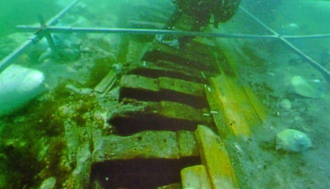 Un barco de la época de Nerón y de 40 metros en Porto Cristo