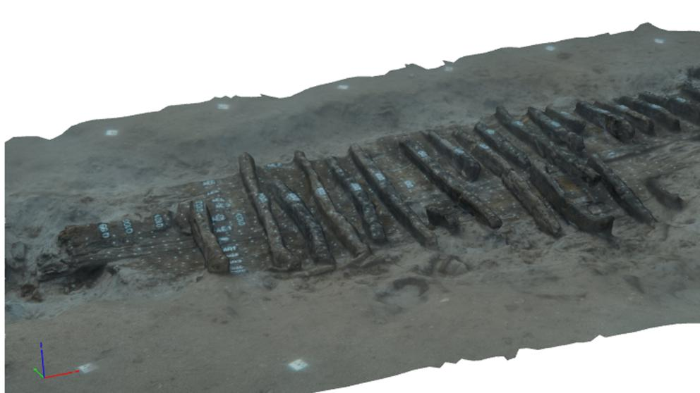 Los arqueólogos reproducen en 3D el segundo barco íbero localizado en el Cap de Creus