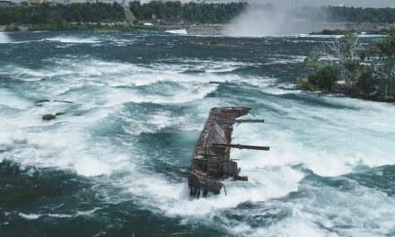 Aparece un barco de hace más de 100 años en las Cataratas del Niágara