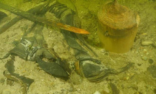 Encontrado un soldado medieval en el fondo de un lago en Lituania