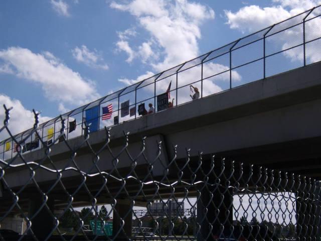 Impeach Obama Overpass Demo, October 26, 2013, Jacksonville, Fl.