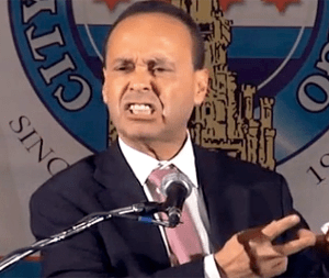 Radical Congressman Luis Gutierrez promoting immigration anarchy