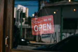 picture of open sign