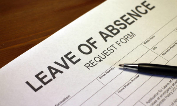 A leave of absence request form