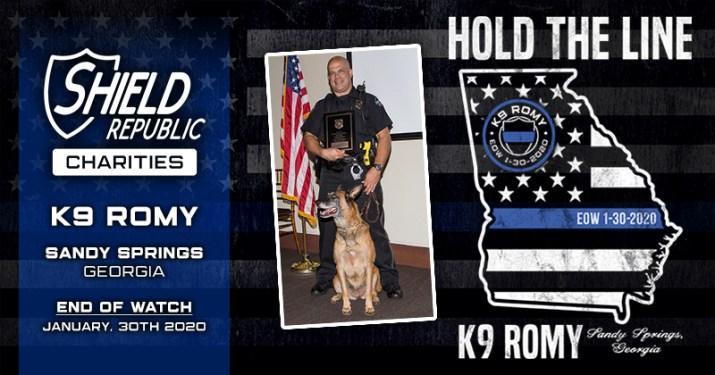 K9 Fundraiser K9 Romy Hold the line