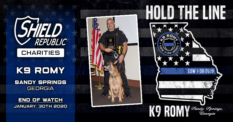 K9 Fundraiser K9 Romy Hold the line