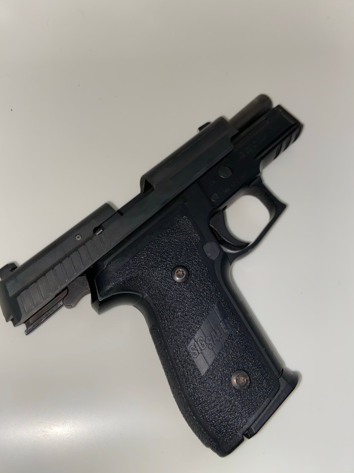 Slide back right side view of the SIG SAUER P229