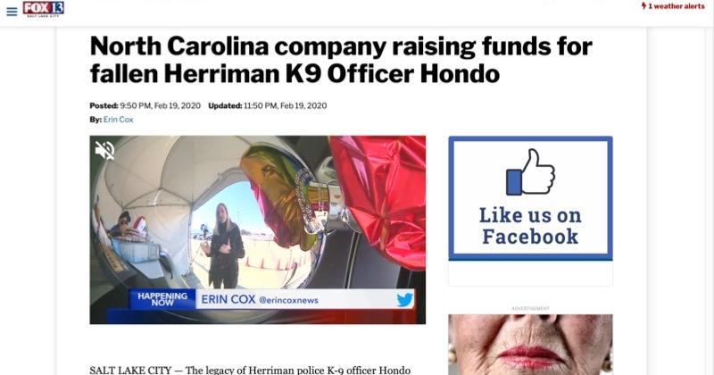 Shield Republic Charlie Romero interview K9 Hondo fallen officer fund raiser