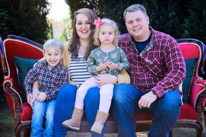 Officer Brent Scrimshire with family