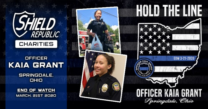 Shield Republic Officer Kaia Grant Springdale Police Fundraiser Fallen Officer